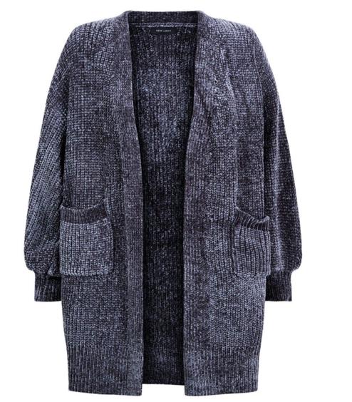 Dark Grey Chenille Cardigan, New Look, €34.99