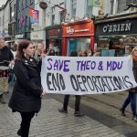 Hundreds attend protest against deportation of NUI Galway student