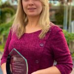 NUI Galway lecturer Fionnuala Corbett wins Silver for News Broadcaster of the Year at the IMRO awards